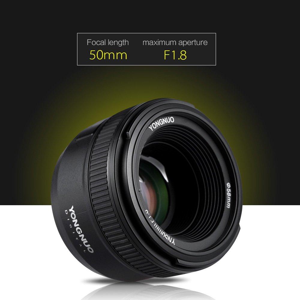 YONGNUO YN50mm F1.8 Large Aperture AF Auto Focus FX DX: Amazon.co.uk ...