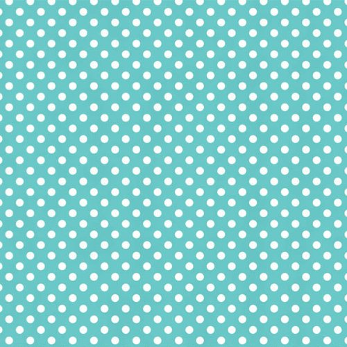 Amscan - Robin Egg Blue with Polka Dots Tissue Paper - Light Blue
