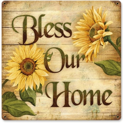 Bless Home Home and Garden Vintage Metal Sign - Victory
