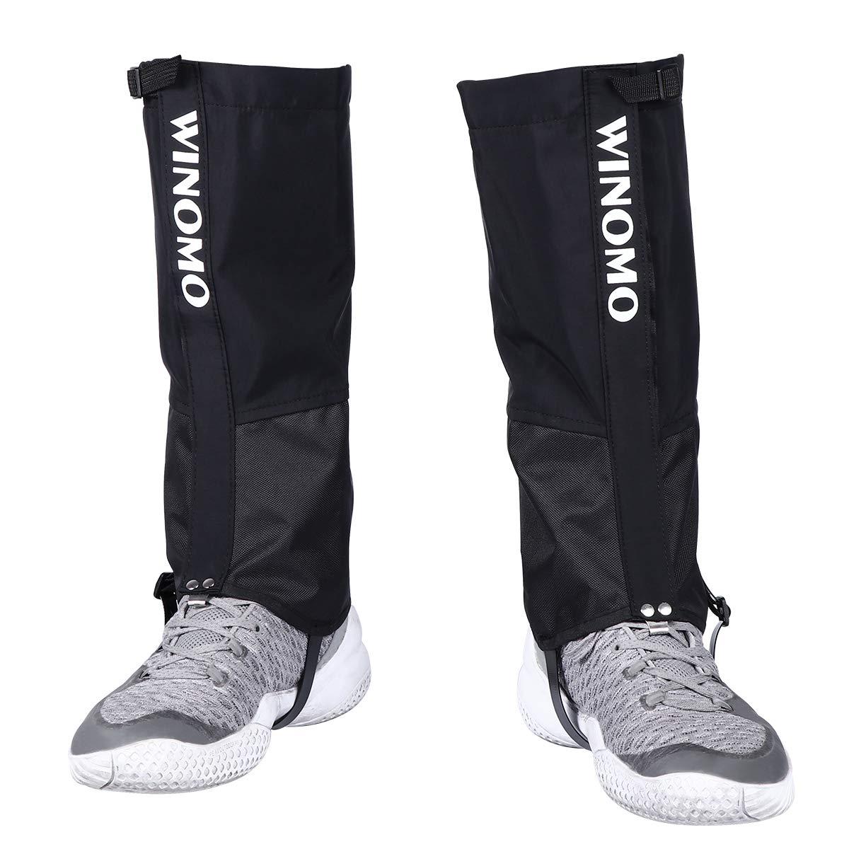 WINOMO Hiking Leg Gaiters Waterproof Anti-Tear Snow Boot Covers Gaiter for Women and Men