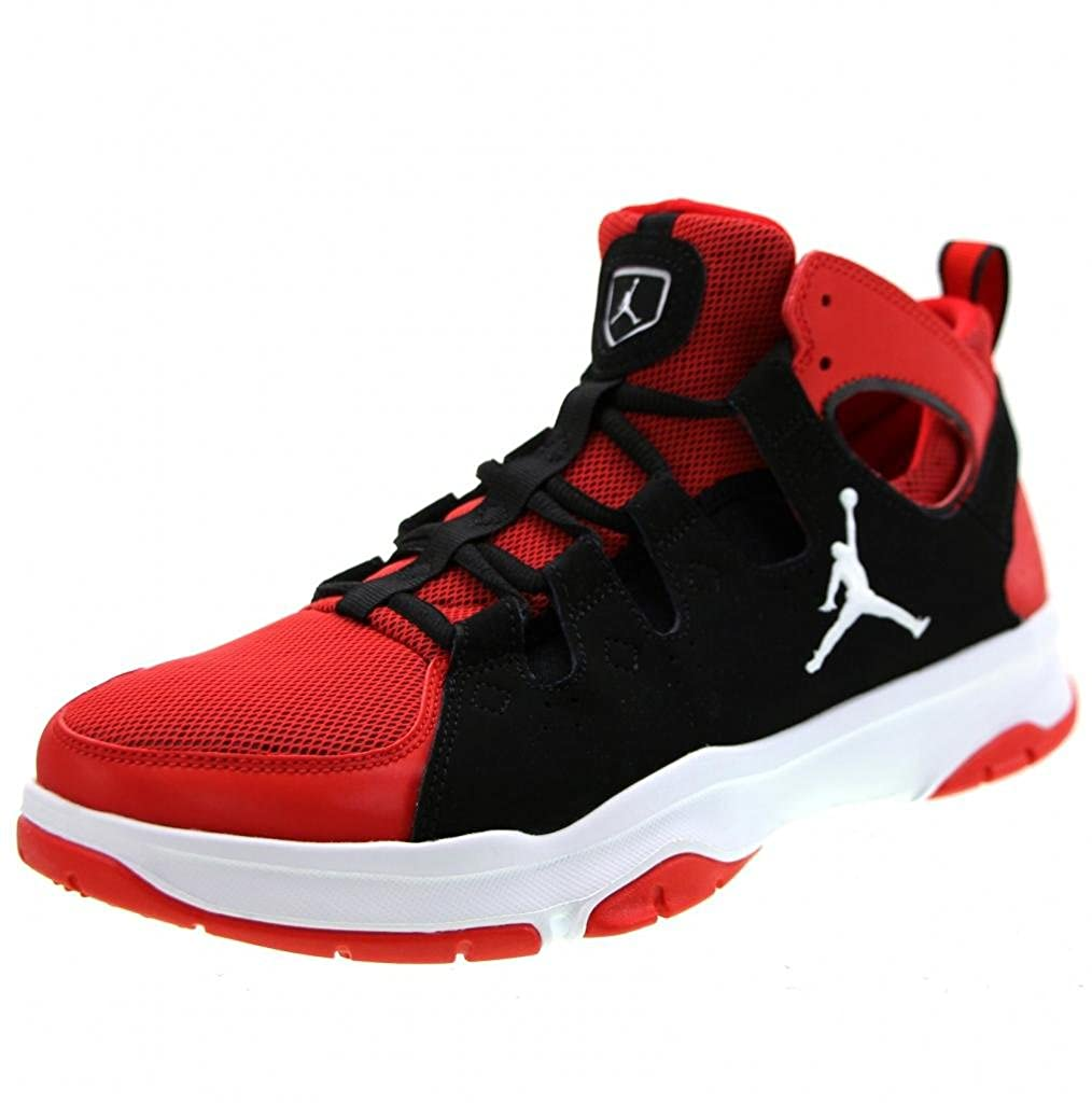 Jordan Men s Legend TR Basketball Shoes, Challenge Red White Black