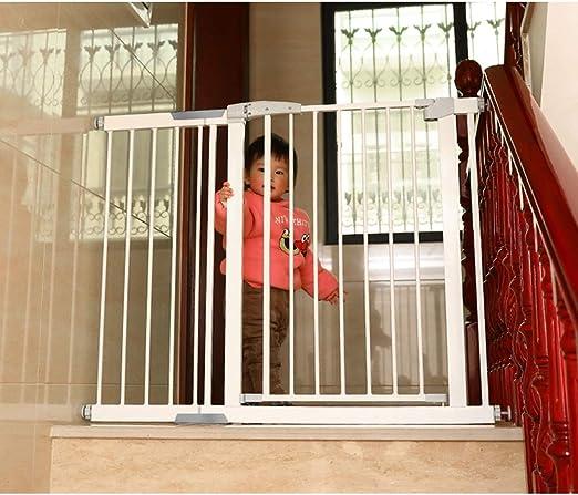 XJJUN-Safety Gate Escalera sin Perforaciones instalación bidireccional Interruptor Puerta de Mascota Extensible Guard Valla tamaño Puede ser Personalizado: Amazon.es: Hogar