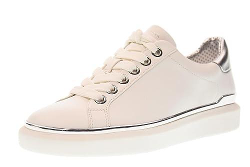 MICHAEL KORS zapatillas de deporte de las mujeres zapatos 43T7MAFS2L MAX ATA PARA ARRIBA BLANCO talla 40 Blanco / plata: Amazon.es: Zapatos y complementos