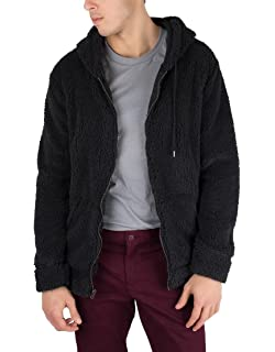 Brooklyn Cloth Black Sherpa Zip Hoodie