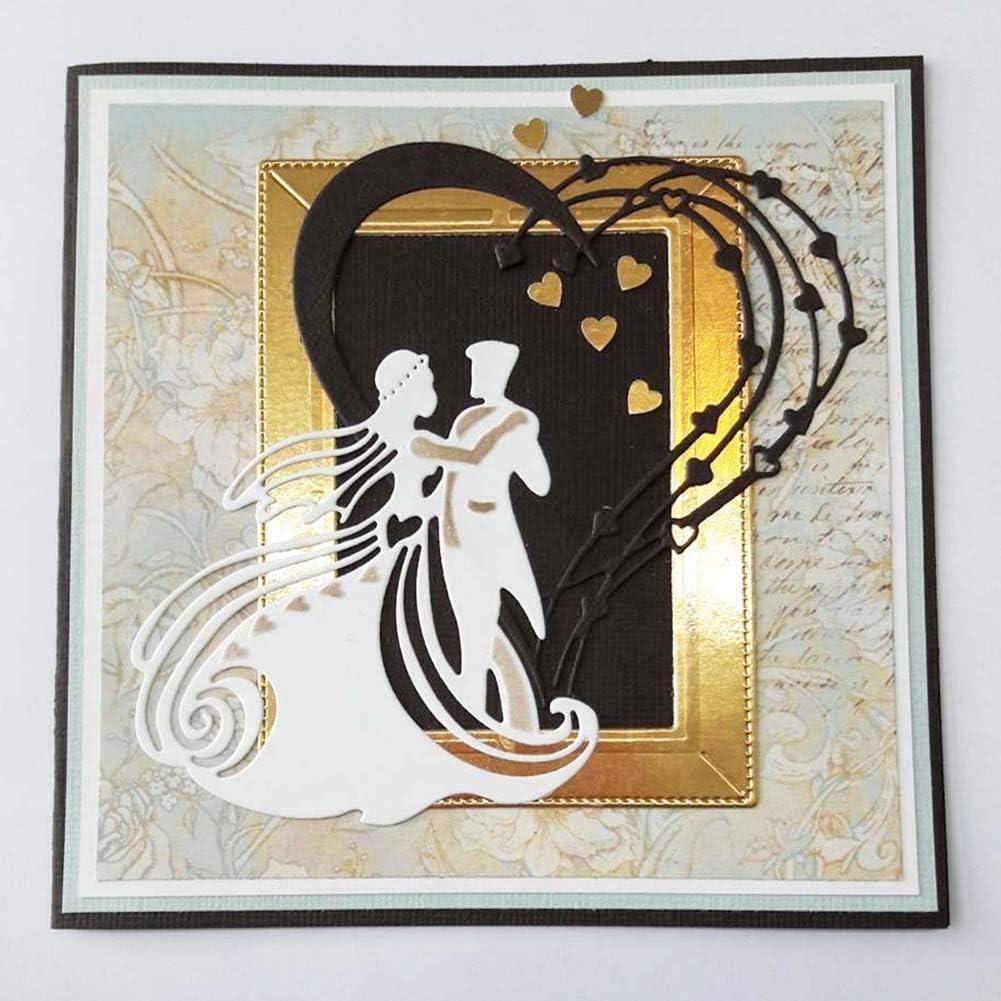 Winkey Metal Cutting Dies Stencils DIY Scrapbooking Album Paper Card Embossing DIY Crafts Cutting Dies for Card Making Background Frame A Cutting Dies Christmas Cutting Dies