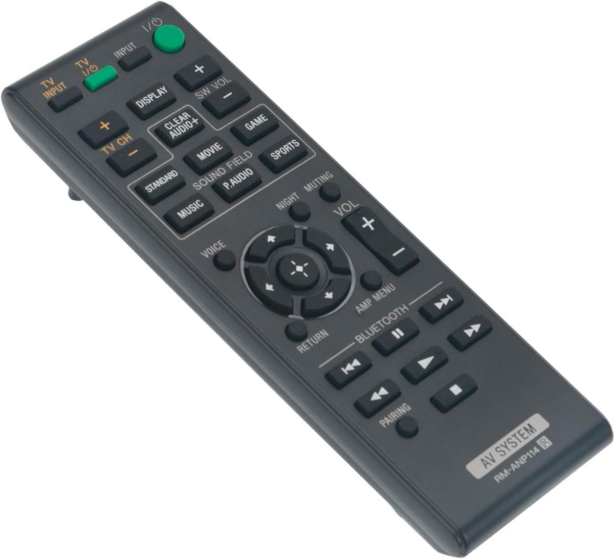 New RM-ANP114 RMANP114 Replace IR Remote Control fit for Sony Sound Bar Soundbar Speaker Audio Home Theater System HT-CT770 HT-CT370 HT-CT380 HT-CT780 1-492-737-11 149273711 HTCT770 HTCT370 HTCT380