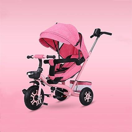Baby stroller- Triciclo para niños Bicicleta grande Bicicleta Peso ligero Carrito Portabebés para bebés (