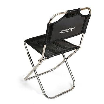 Kleiner Klappstuhl.Portable Klappstuhl Mit Rückenlehne Aluminium Mini Angeln