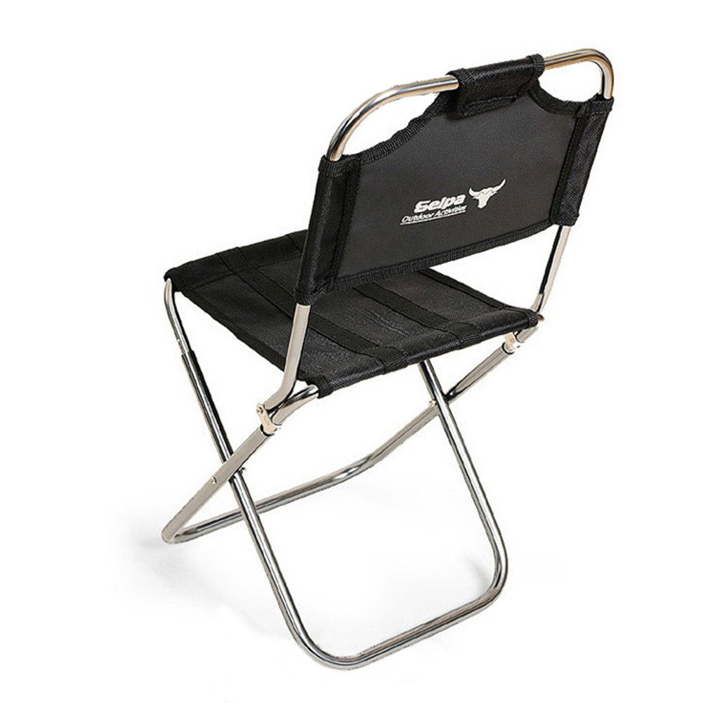 Yunhigh Portable Folding Stool with Back, Aluminum Mini Fishing Chair Small Stool Seat Heavy Duty Foldable Lightweight for Backpacking Hiking Camping Picnic Travel