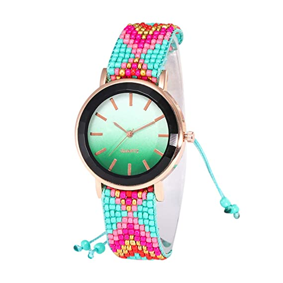 Amazon.com: Hanku🌿🌿Cute Quartz Watch Womans High-end Blue ...