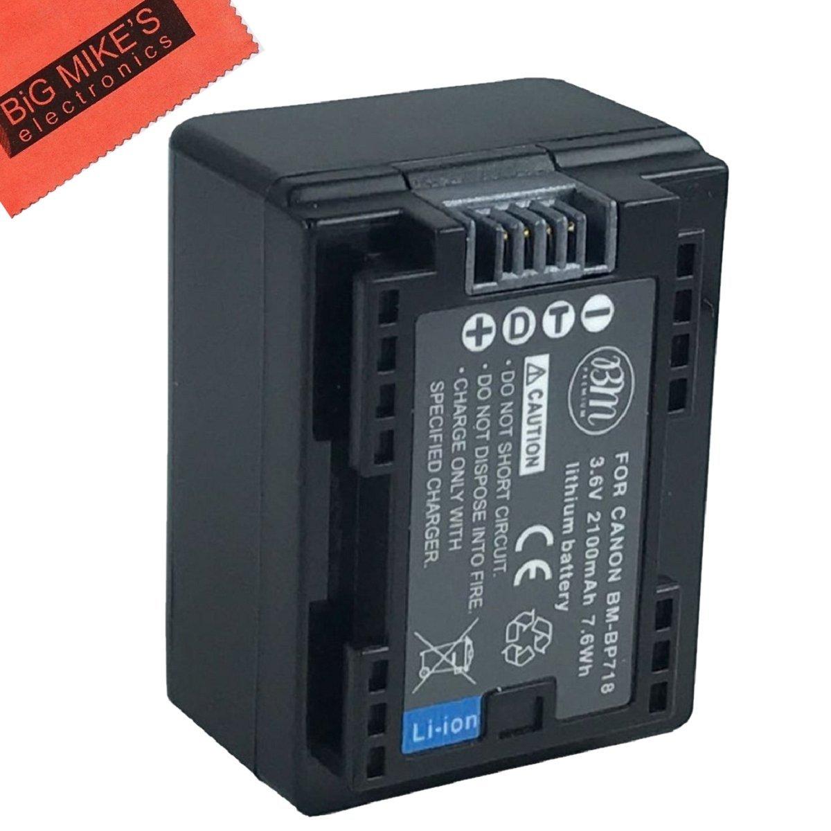 BM Premium Fully Decoded BP-718 Battery for Canon Vixia HF R70, HF R72, HF R700, HFM50, HFM52, HFM500, HFR30, HFR32, HFR300, HFR40, HFR42, HFR400, HFR50, HFR52, HFR500, HFR60, HFR62, HFR600 Camcorder + More!!! BM-BP718K1