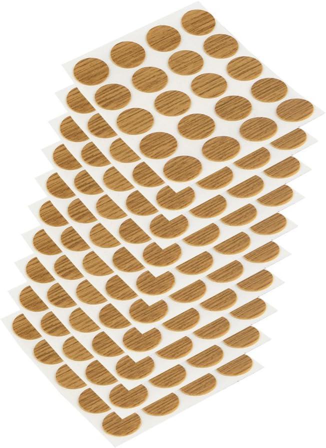 Emuca 4026419 Tapa embellecedora adhesiva, Ø13mm, Roble, Lote de 200 piezas: Amazon.es: Bricolaje y herramientas