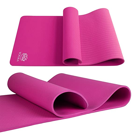 Amazon.com: Yogra TPE - Alfombrilla de yoga extra larga de ...