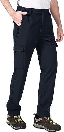 aoli ray Hombre Impermeable Pantalones de Escalada Trekking Senderismo Pantalones