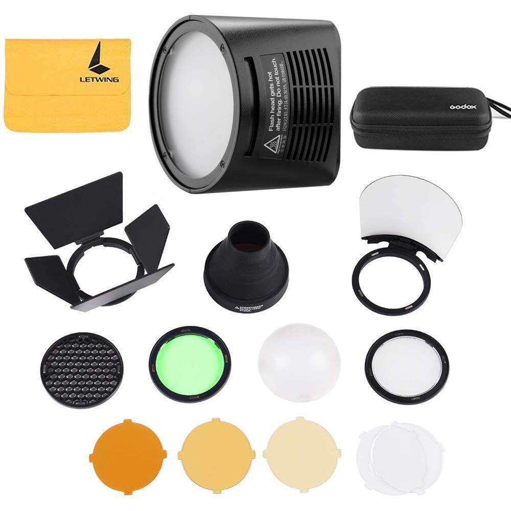 Godox H200R Ring Flash Head for Godox AD200 and Godox AD200Pro Pocket Flash Light,Godox AK-R1 Accessories Kit for Godox H200R Round Flash Head