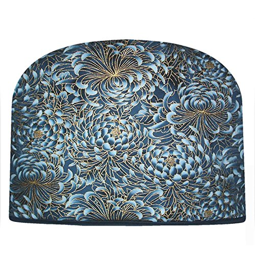 Blue Moon Indigo Blue Mums Tea Cozy Double Insulated Tea Cosy Keeps Tea Warm for Hours by Blue Moon Fine Teas