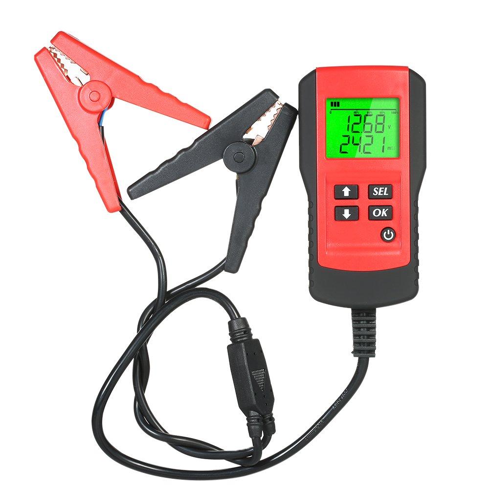KKmoon Strumento Diagnostico del Tester della Batteria del Veicolo Automobilistico dell'Analizzatore di Digital di 12V LCD