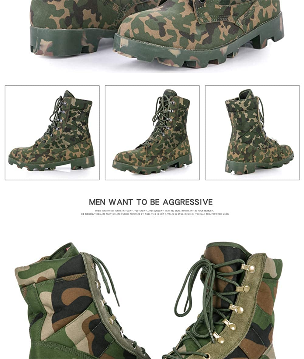Newstarshop Special Force Mens Camouflage Army Combat Work Boots Shoes Men Military Tacitical Safety Shoes