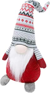 Roberly Christmas Gnomes Plush, 19.5 Inch Holiday Gnome Handmade Swedish Tomte Gnome Scandinavian Tomte Nisse Nordic Gnomes Christmas Decorations for Party, Home Ornaments