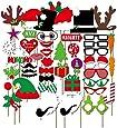 Musuntas 50pezzi. Party foto travestimento Baffi Labbra Occhiali Cappelli Photo Booth Props Set Natale motivi Party mitbringsel