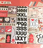 I Love (Heart )My Dog 12x12 Scrapbooking Page Kit, albums, frames, wall art, 13 pcs
