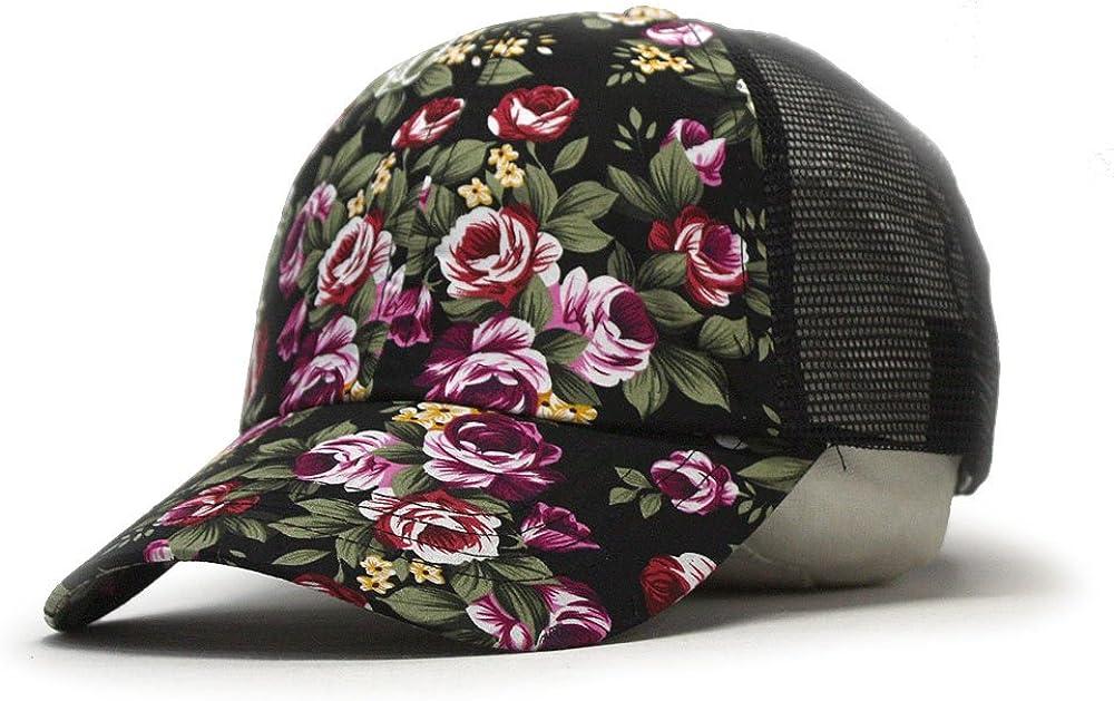 Premium Floral Hawaiian Cotton Twill Adjustable Snapback Hats Baseball Caps