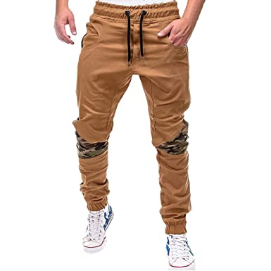 QUICKLYLy Pantalones Vaqueros Hombre Pitillo Rotos Chandals ...