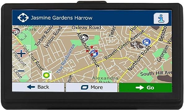 GPS Navi Navigation Coche cartografía Europea 7 Pulgadas 8 G 128 MB Pantalla táctil LCD POI Speed Camera Advertencia Voz de navegación Assistant Dispositivo de navegación para 52 Tarjeta país: Amazon.es: Electrónica