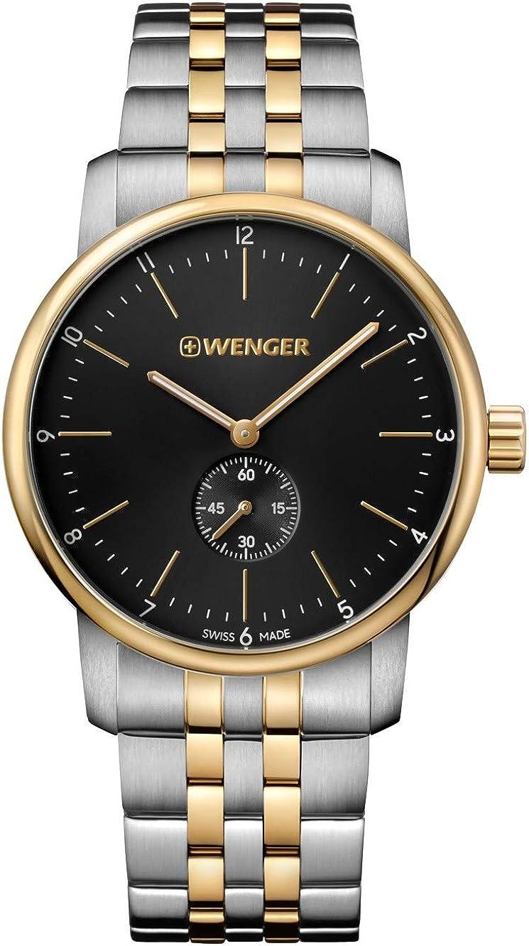WENGER Reloj Analógico Unisex de Cuarzo de Acero Inoxidable 01.1741.104