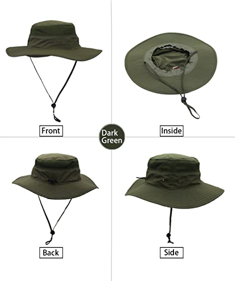 b9d0ed4e2e9 HAINE Bucket Hat Men Women Wide Brim Mesh Sun Hat Activities Summer Outdoor  UV Protection Beach Hat Wide Brim Bucket Hat Black by  Amazon.co.uk  Sports    ...