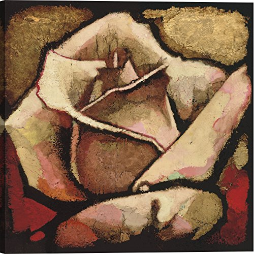 Gallery Direct AA103A-40x40-CG-F0000-ML000 Rose Study II by Arthur Albin Artwork on Canvas , 40