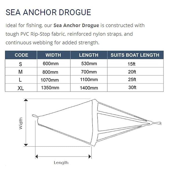 Tauwerk & Fender Sea Anchor Drogue Drift Chute Drfiting Brake für 15 17ft Bootskajaks Bootsteile & Zubehör