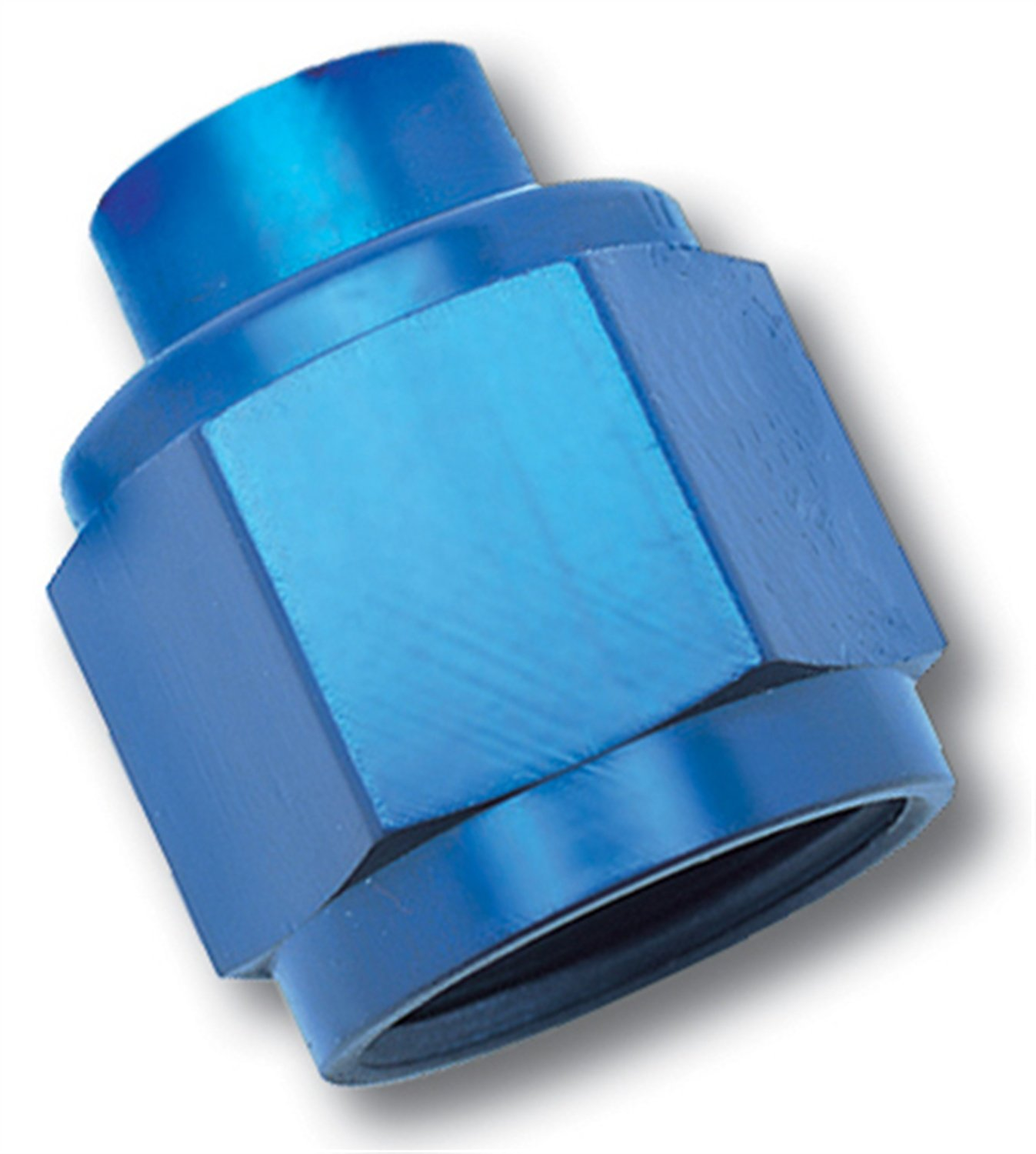 Edelbrock/Russell 661990 Blue Anodized Aluminum -12AN Flare Cap Fitting RUS-661990