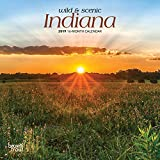 Indiana, Wild & Scenic 2019 7 x 7 Inch Monthly Mini Wall Calendar, USA United States of America Midwest State Nature