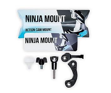 NINJA MOUNT soporte camara de acción para casco fullface, compatible con GoPro, Garmin &