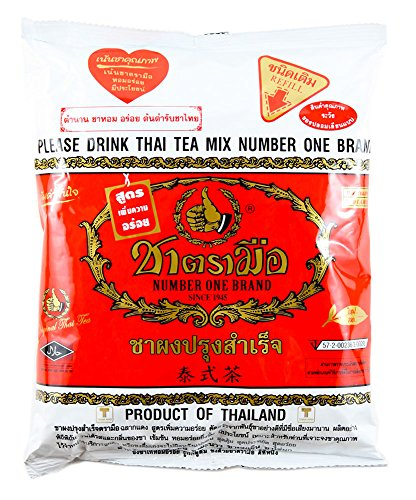 Number One The Original Thai Iced Tea Mix - Number One Brand Imported From Thailand - Great for Restaurants That Want to Serve Authentic and Thai Iced Teas, 400g Bag (Box To Measure Balloons)