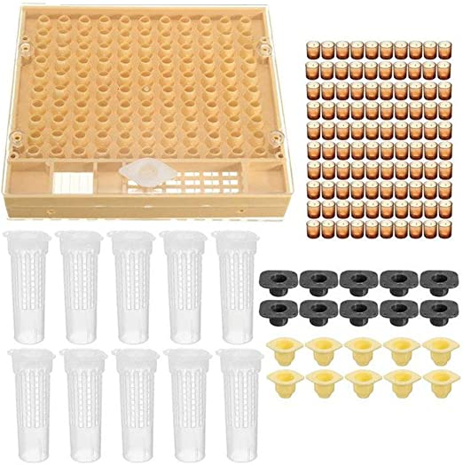 100Set//lot Beekeping Tool Rearing Cup Kit Queen Bee Cages Cell Cup Holder Bees