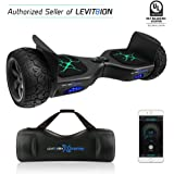 "levit8ion Latest 2018 App-Enabled XTREME HUMMER 8.5"" Off Road UL 2272 Hoverboard! 700w Dual Motor All Terrain Tires & Metal Fenders, LED Lights, Bluetooth, Samsung battery (Matte Black)"