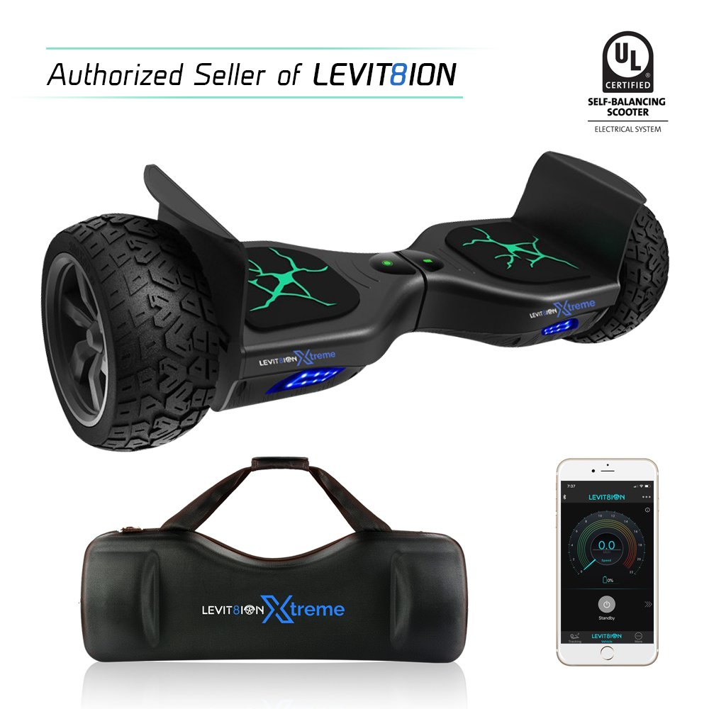 Latest 2018 App-Enabled LEVIT8ION XTREME HUMMER 8.5'' Off Road UL 2272 Hoverboard! 700w Dual Motor All Terrain Tires & Metal Fenders, LED Lights, Bluetooth, Samsung battery & FREE Water Proof Carry Bag by levit8ion