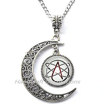 Amazon atheist symbol necklace atheist pendant necklace atheist symbol necklaceatheist pendant necklace atheist gift atheism science jewelry aloadofball Choice Image