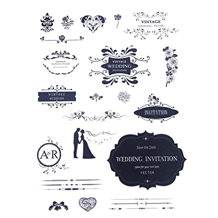 Amazon decora vintage wedding big clear stamp for wedding decora vintage wedding big clear stamp for wedding decorations of diy junglespirit Gallery