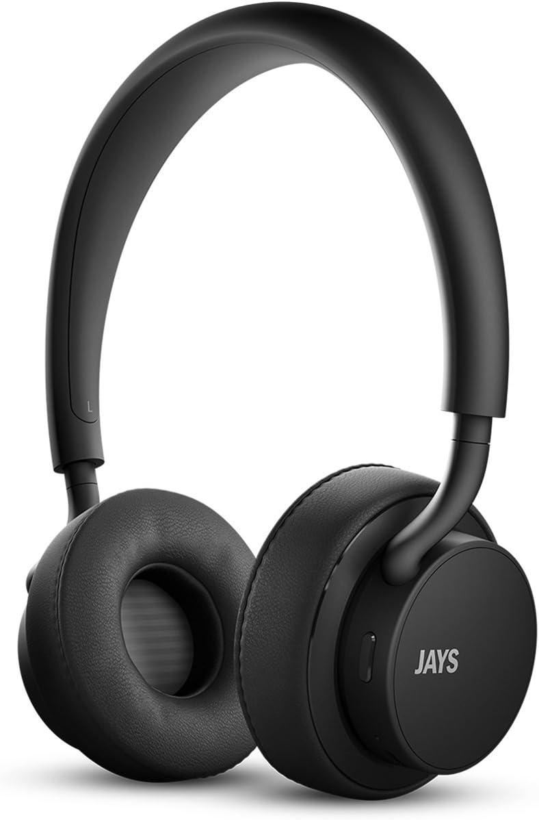 JAYS u Wireless Bluetooth Premium Headphones (Black/Black)