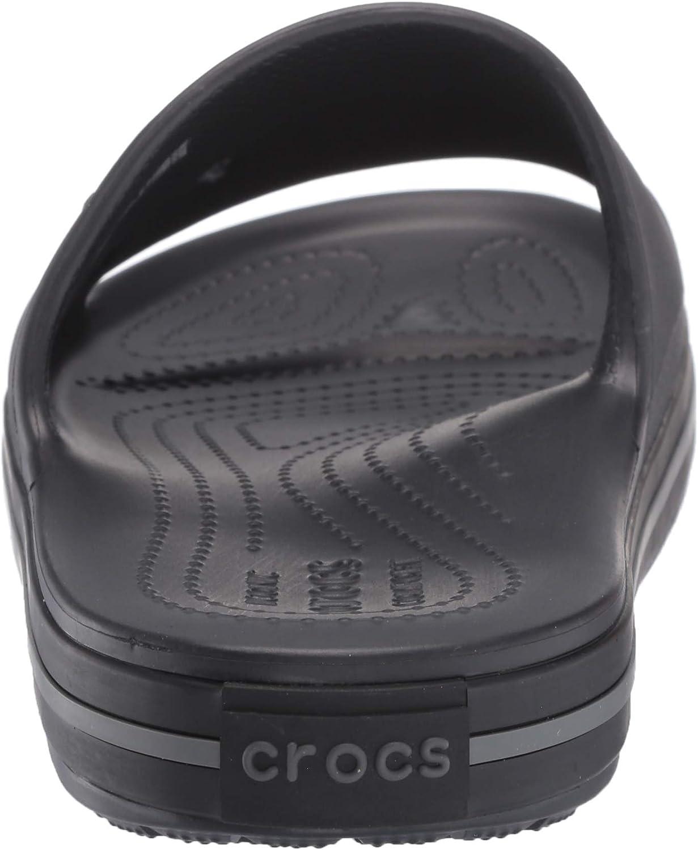 Sandales Bout Ouvert Crocs Slide Noire//Graphite Mixte Adulte