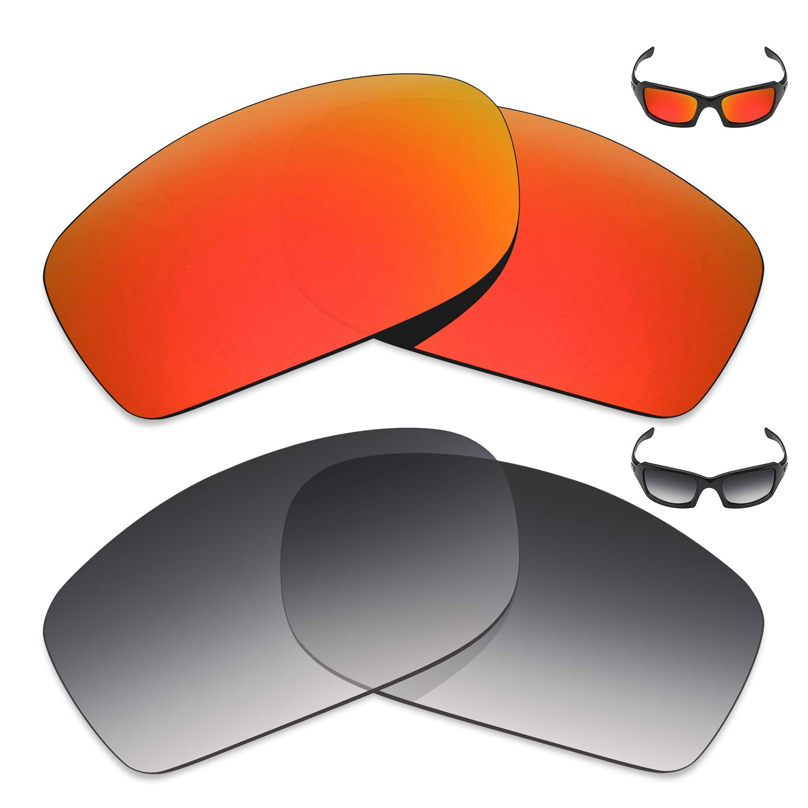 Mryok 2 Pair Polarized Replacement Lenses for Oakley Fives Squared Sunglass - Options by Mryok