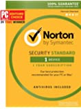 Symantec Norton Security Standard – 1 Device – 1 Year Subscription – Product Key Card -2019 Ready