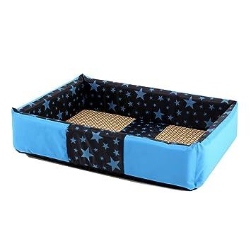 Suministros para camas Lavado Rectangular Azul Tridimensional anidación Perro Cama Mascota Gato y Cama para Perros (Size : 60cm): Amazon.es: Hogar