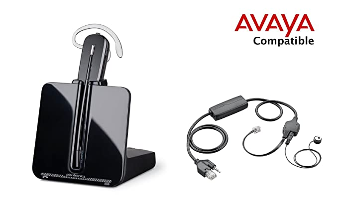5eb9fcf9ab3e31 Avaya Compatible Plantronics CS540 VoIP Wireless Headset Bundle with  Electronic Remote Answer End and Ring alert (EHS) for Avaya Phones  1600,  9600 IP ...