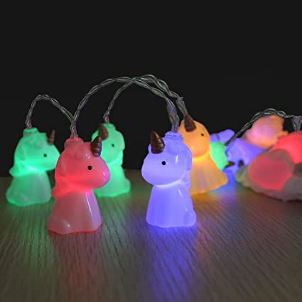 loguide cute unicorn shape led string lights 15m 10 lights battery powered for indoor