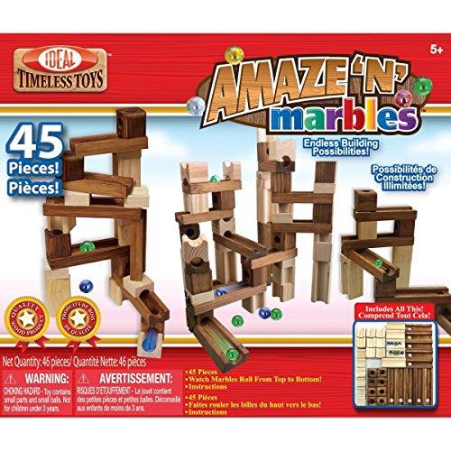 Ideal Amaze 'N' Marbles  45 Piece Classic Wood Construction - Set 45 Piece