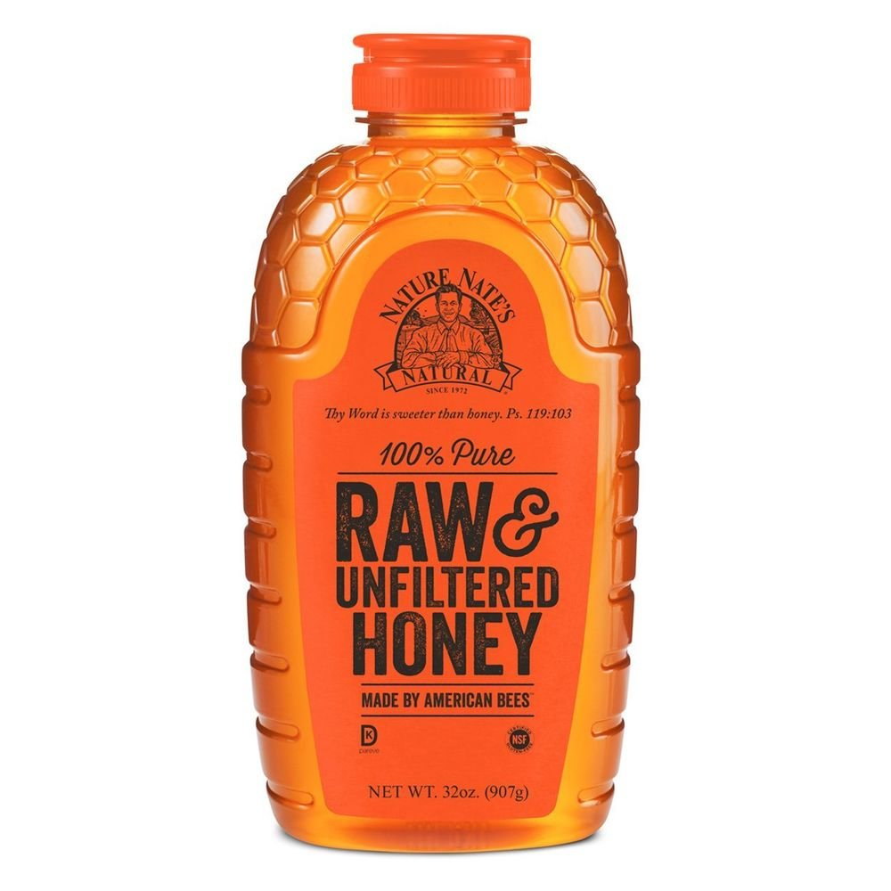 Nature Nate's, 32 Ounce, 100% Pure, Raw and Unfiltered Honey